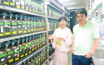 国立遺伝学研究所川上浩一先生と箏回想士渡部佳奈子