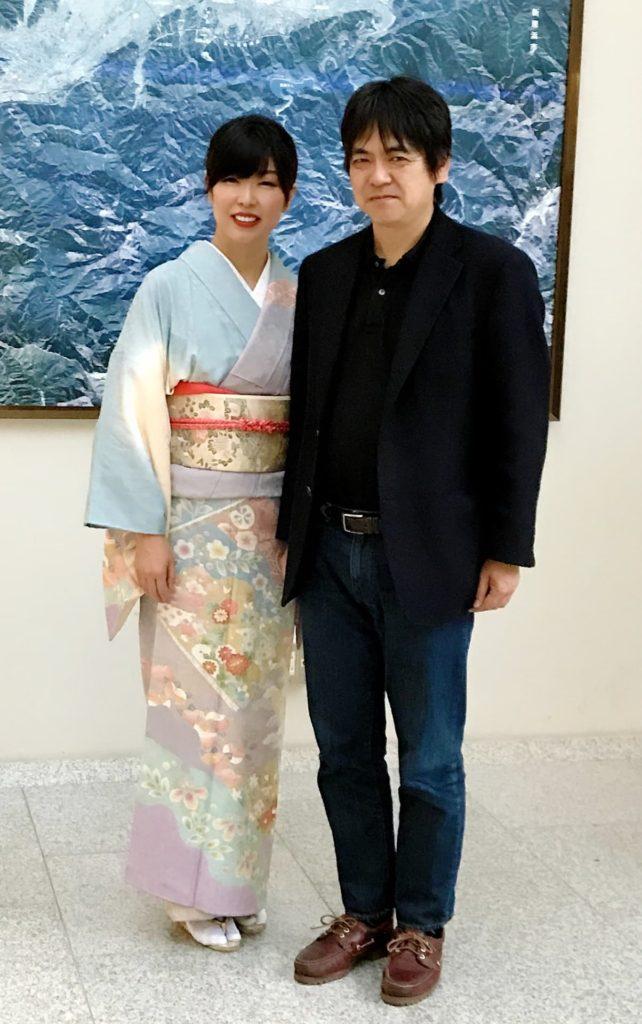 川上浩一先生と渡部佳奈子
