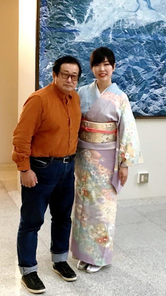 石川智久先生と渡部佳奈子