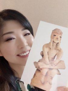 箏回想士渡部佳奈子とコトハニくんポストカード