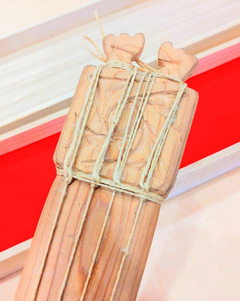 縄文琴装飾
